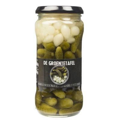 7384 - Aarts de groentetafel - zilveruitjes/cornichon 370 ml