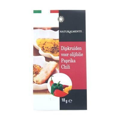 8496 - Naturalmente dipkruiden voor olijfolie paprika & chil 18 gram