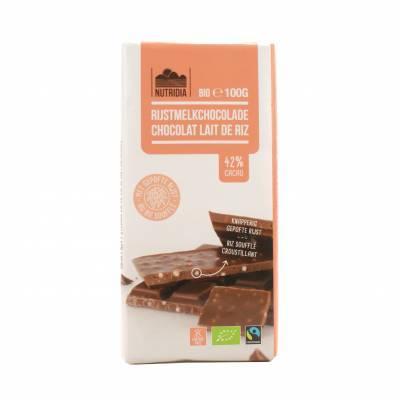 8810 - Nutridia rijstmelkchocolade 100 gram