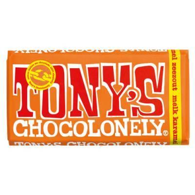 90003 - Tony's Chocolonely reep melk karamel zeezout 180 gram