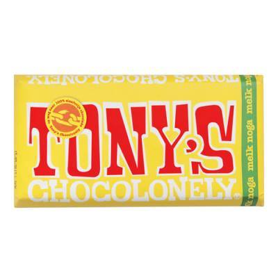 90004 - Tony's Chocolonely reep melk nougat 180 gram