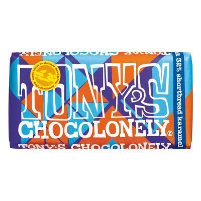 90013 - Tony's Chocolonely Limited melk shortbread karamel 180 gram