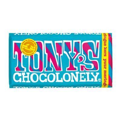 90021 - Tony's Chocolonely reep puur meringue kers 180 gram