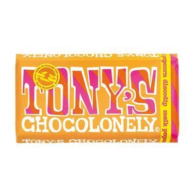90024 - Tony's Chocolonely reep melk popcorn dicodip 175 gram