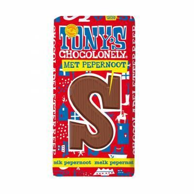 90080 - Tony's Chocolonely sint letter melk pepernoot 180 gram