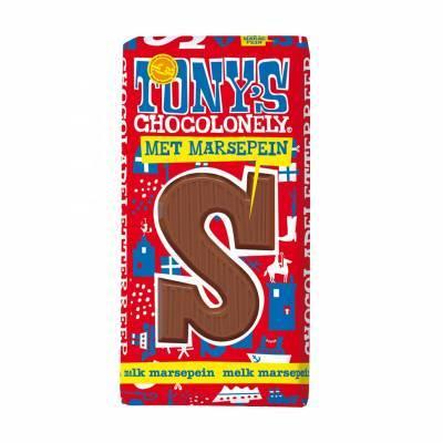 90081 - Tony's Chocolonely sint letter melk marsepein 180 gram