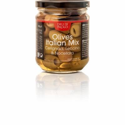 7863 - Deli Di Paolo olives italian mix 180 gram