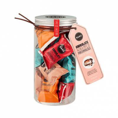 9186 - Barú gift jar marshmallows assorti smaken 208 gram