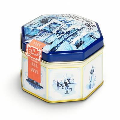 9524 - JB Diesch blik delfts blauw achtkant 200 gram