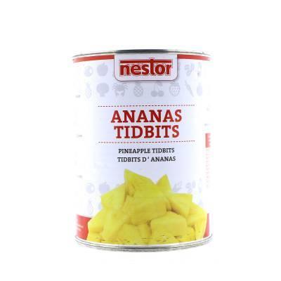 9652 - Nestor ananas tidbits choice 0.75 liter