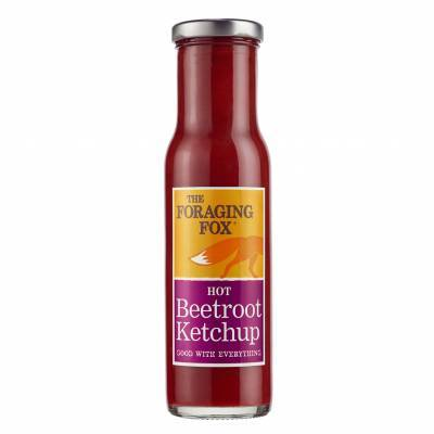 9658 - The Foraging Fox hot beetroot ketchup 255 gr