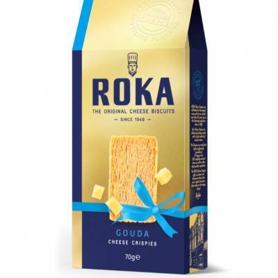 6568 - Roka cheese crispies gouda (gold) 70 gram