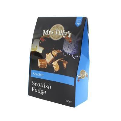 20809 - Mrs Tilly's sea salt fudge gift box 150 gram