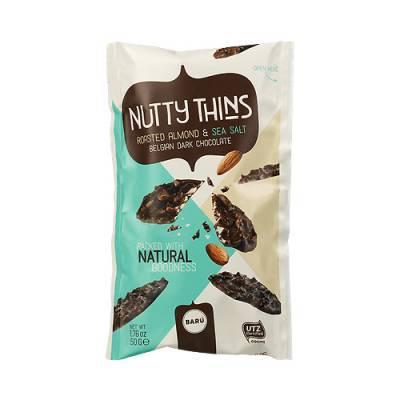 9140 - nutty thins roasted almond & sea salt 50 gram