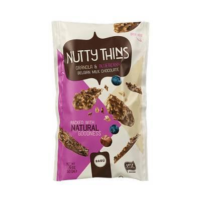 9141 - nutty thins granola & blueberry 50 gram