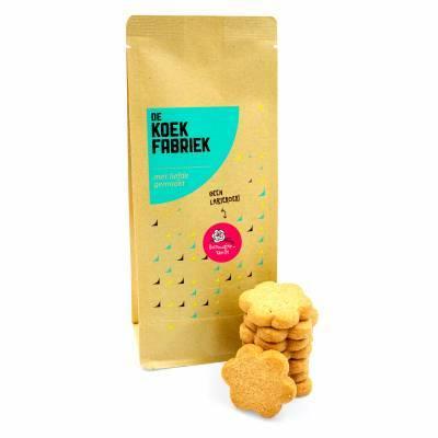 9952 - De Koekfabriek rozenwater-vanille bloemenkoek 100 gram