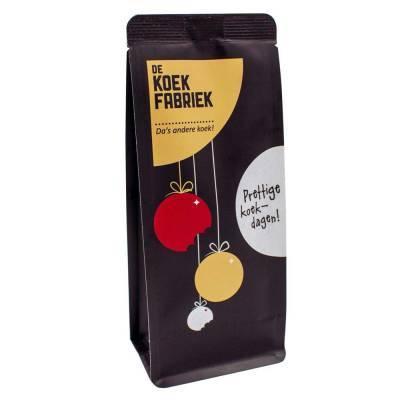 9977 - De Koekfabriek kerstkransjes zwart 100 gram