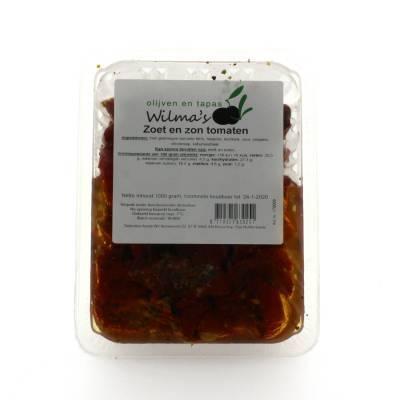 18070 - Wilma's Olijven zoet en zon tomaten 1000 gram